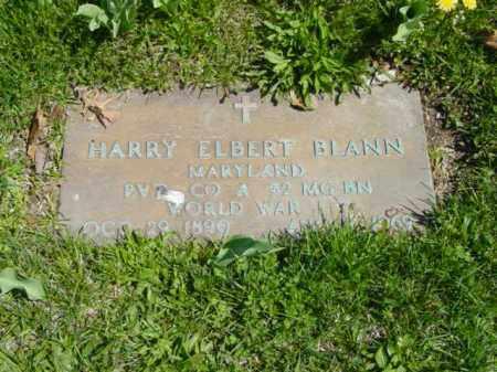 BLANN, HARRY ELBERT - Talbot County, Maryland   HARRY ELBERT BLANN - Maryland Gravestone Photos