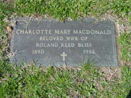 BLISS, CHARLOTTE MARY - Talbot County, Maryland | CHARLOTTE MARY BLISS - Maryland Gravestone Photos