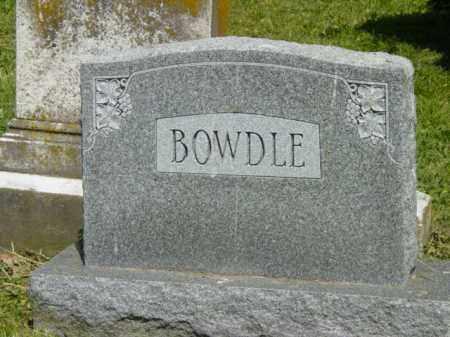 BOWDLE, MONUMENT - Talbot County, Maryland   MONUMENT BOWDLE - Maryland Gravestone Photos