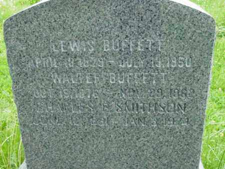 BUFFETT, WALTER - Talbot County, Maryland | WALTER BUFFETT - Maryland Gravestone Photos