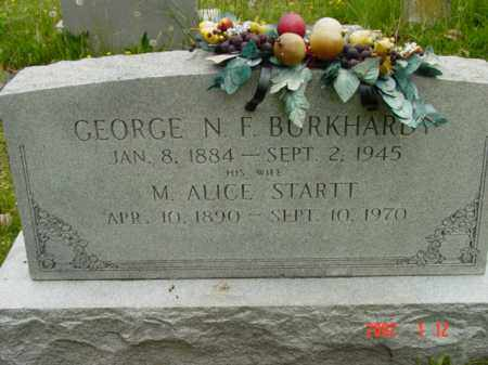 BURKHARDY, M. ALICE - Talbot County, Maryland | M. ALICE BURKHARDY - Maryland Gravestone Photos
