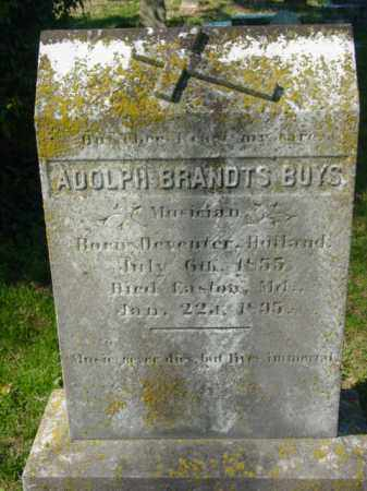 BUYS, ADOLPH BRANDTS - Talbot County, Maryland   ADOLPH BRANDTS BUYS - Maryland Gravestone Photos