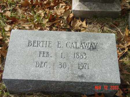 CALAWAY, BERTIE E. - Talbot County, Maryland | BERTIE E. CALAWAY - Maryland Gravestone Photos