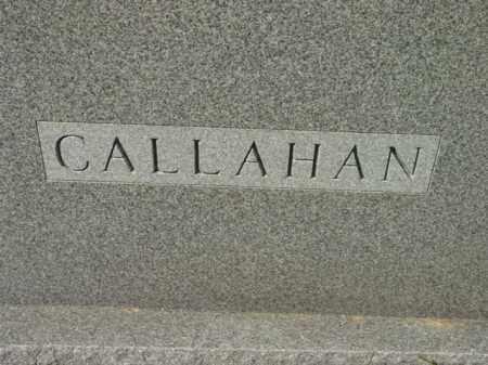 CALLAHAN, MOUNUMENT - Talbot County, Maryland | MOUNUMENT CALLAHAN - Maryland Gravestone Photos