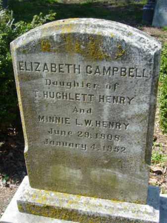 CAMPBELL, ELIZABETH - Talbot County, Maryland | ELIZABETH CAMPBELL - Maryland Gravestone Photos