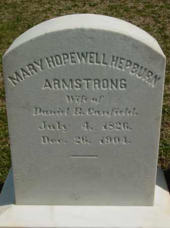 ARMSTRON CANFIELD, MARY HOPEWELL HEPBURN - Talbot County, Maryland | MARY HOPEWELL HEPBURN ARMSTRON CANFIELD - Maryland Gravestone Photos