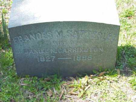 SATTERFILED CARRINGTON, FRANCES M. - Talbot County, Maryland | FRANCES M. SATTERFILED CARRINGTON - Maryland Gravestone Photos