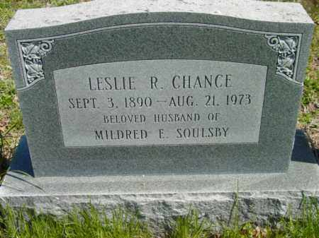 CHANCE, LESLIE R. - Talbot County, Maryland | LESLIE R. CHANCE - Maryland Gravestone Photos
