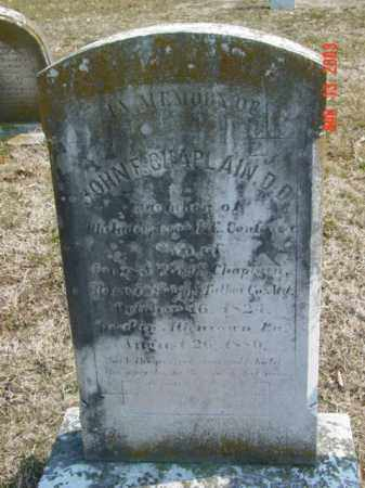 CHAPLAIN, DD, JOHN F. - Talbot County, Maryland   JOHN F. CHAPLAIN, DD - Maryland Gravestone Photos