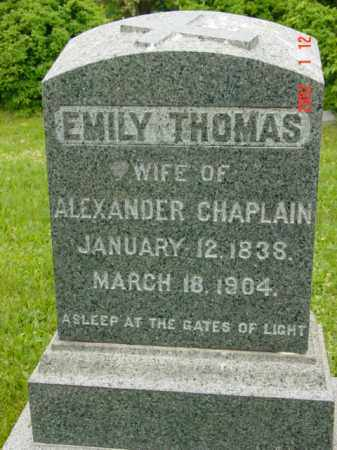 CHAPLAIN, EMILY - Talbot County, Maryland | EMILY CHAPLAIN - Maryland Gravestone Photos