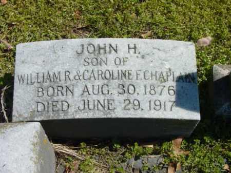 CHAPLAIN, JOHN H. - Talbot County, Maryland   JOHN H. CHAPLAIN - Maryland Gravestone Photos