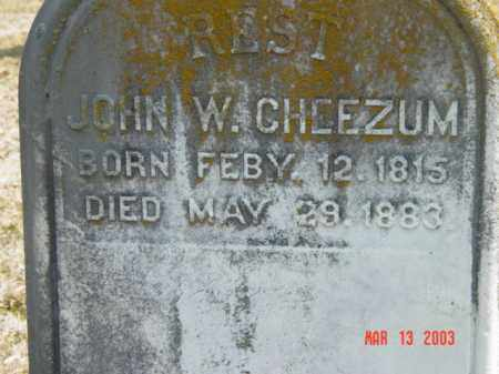 CHEEZUM, JOHN W. - Talbot County, Maryland | JOHN W. CHEEZUM - Maryland Gravestone Photos