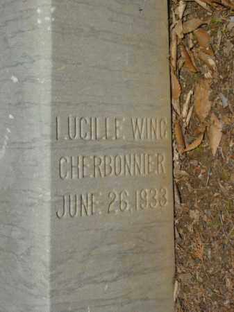 WING CHERBONNIER, LUCILLE - Talbot County, Maryland | LUCILLE WING CHERBONNIER - Maryland Gravestone Photos
