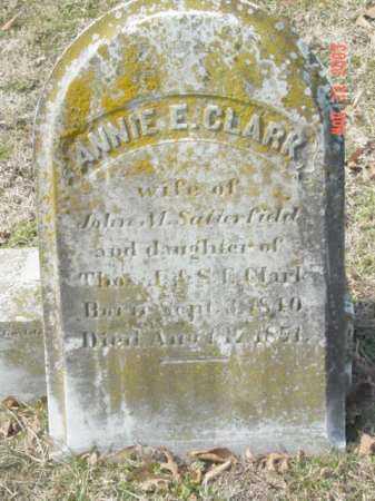 CLARK, ANNIE E. - Talbot County, Maryland   ANNIE E. CLARK - Maryland Gravestone Photos