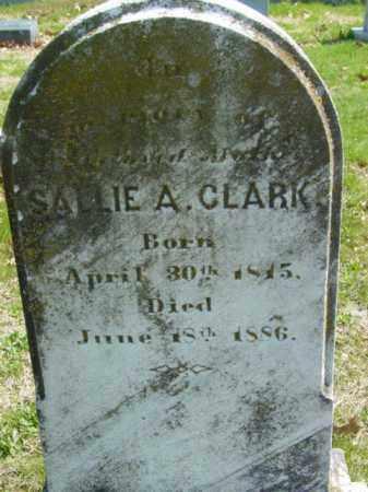 CLARK, SALLIE A. - Talbot County, Maryland   SALLIE A. CLARK - Maryland Gravestone Photos