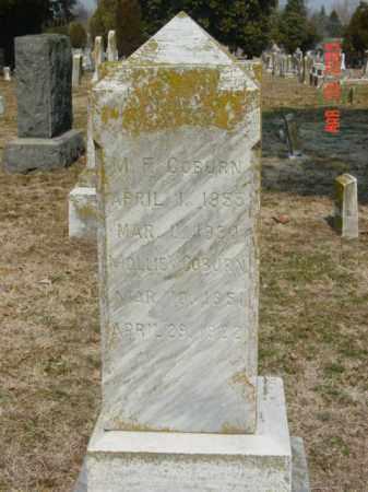 COBURN, M. F. - Talbot County, Maryland | M. F. COBURN - Maryland Gravestone Photos