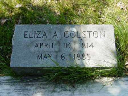 COLSTON, ELIZA A. - Talbot County, Maryland   ELIZA A. COLSTON - Maryland Gravestone Photos