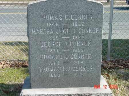CONNER, THOMAS L. J. - Talbot County, Maryland | THOMAS L. J. CONNER - Maryland Gravestone Photos