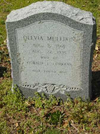 MULLIKIN CORKRAN, OLEVIA - Talbot County, Maryland   OLEVIA MULLIKIN CORKRAN - Maryland Gravestone Photos
