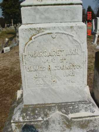 COVINGTON, MARGARET ANN - Talbot County, Maryland | MARGARET ANN COVINGTON - Maryland Gravestone Photos
