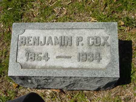 COX, BENJAMIN P. - Talbot County, Maryland   BENJAMIN P. COX - Maryland Gravestone Photos