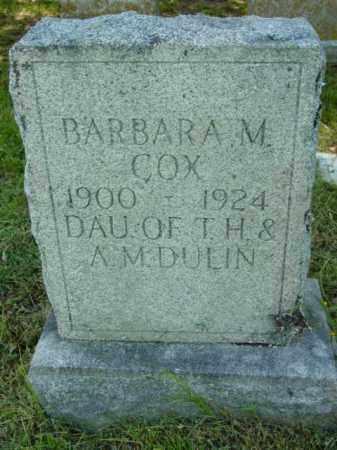 COX, BARBARA M. - Talbot County, Maryland   BARBARA M. COX - Maryland Gravestone Photos