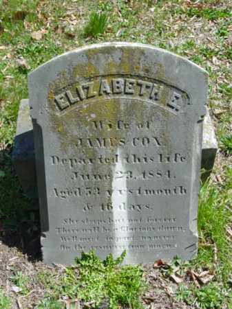 COX, ELIZABETH E. - Talbot County, Maryland   ELIZABETH E. COX - Maryland Gravestone Photos