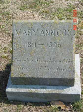 COX, MARY ANN - Talbot County, Maryland | MARY ANN COX - Maryland Gravestone Photos