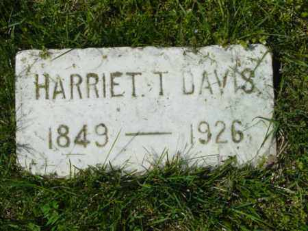 DAVIS, HARRIET T. - Talbot County, Maryland | HARRIET T. DAVIS - Maryland Gravestone Photos