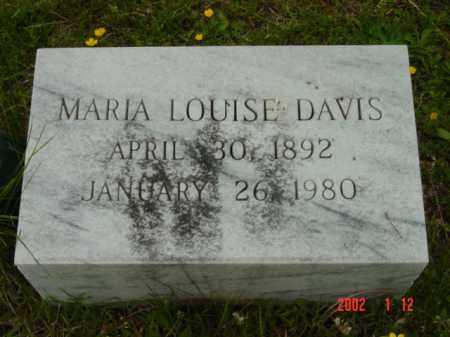 DAVIS, MARIA LOUISE - Talbot County, Maryland   MARIA LOUISE DAVIS - Maryland Gravestone Photos