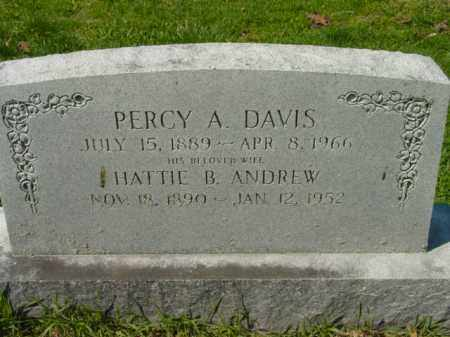 DAVIS, PERCY A. - Talbot County, Maryland   PERCY A. DAVIS - Maryland Gravestone Photos