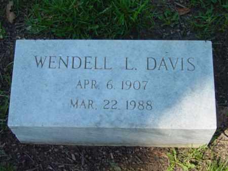 DAVIS, WENDELL L. - Talbot County, Maryland   WENDELL L. DAVIS - Maryland Gravestone Photos