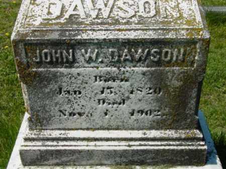 DAWSON, JOHN W. - Talbot County, Maryland   JOHN W. DAWSON - Maryland Gravestone Photos