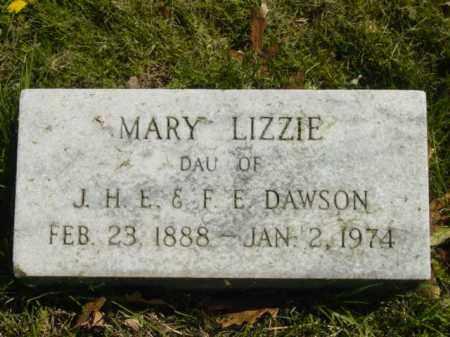 DAWSON, MARY LIZZIE - Talbot County, Maryland | MARY LIZZIE DAWSON - Maryland Gravestone Photos