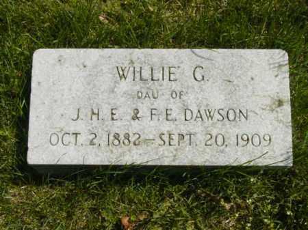 DAWSON, WILLIE G. - Talbot County, Maryland | WILLIE G. DAWSON - Maryland Gravestone Photos