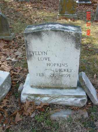 DICKEY, EVELYN LOWE HOPKINS - Talbot County, Maryland | EVELYN LOWE HOPKINS DICKEY - Maryland Gravestone Photos
