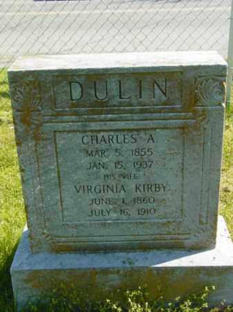 DULIN, CHARLES A. - Talbot County, Maryland | CHARLES A. DULIN - Maryland Gravestone Photos