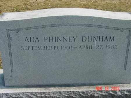 DUNNHAM, ADA PHINNEY - Talbot County, Maryland | ADA PHINNEY DUNNHAM - Maryland Gravestone Photos