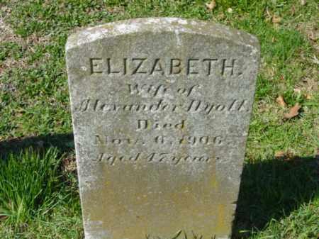 DYOTT, ELIZABETH - Talbot County, Maryland | ELIZABETH DYOTT - Maryland Gravestone Photos