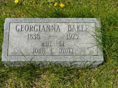 BAKER DYOTT, GEORGIANNA - Talbot County, Maryland | GEORGIANNA BAKER DYOTT - Maryland Gravestone Photos