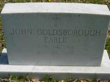 EARLE, JOHN GOLDSBOROUGH - Talbot County, Maryland | JOHN GOLDSBOROUGH EARLE - Maryland Gravestone Photos
