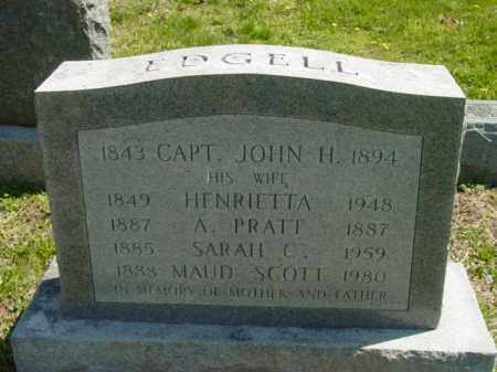 EDGELL, CAPT JOHN H. - Talbot County, Maryland | CAPT JOHN H. EDGELL - Maryland Gravestone Photos