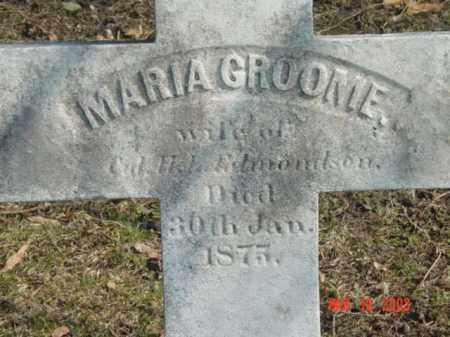 GROOME, MARIA - Talbot County, Maryland | MARIA GROOME - Maryland Gravestone Photos