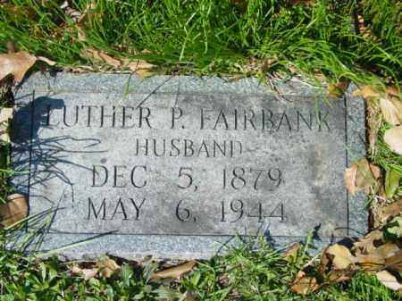 FAIRBANK, LUTHER P. - Talbot County, Maryland | LUTHER P. FAIRBANK - Maryland Gravestone Photos