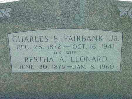 FAIRBANKS, BERTHA A. - Talbot County, Maryland | BERTHA A. FAIRBANKS - Maryland Gravestone Photos