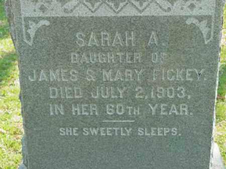 FICKEY, SARAH A. - Talbot County, Maryland | SARAH A. FICKEY - Maryland Gravestone Photos