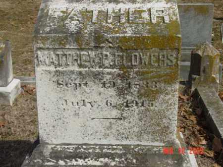 FLOWERS, MATTHEW P. - Talbot County, Maryland   MATTHEW P. FLOWERS - Maryland Gravestone Photos