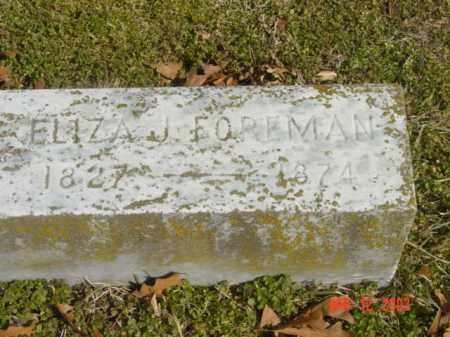 FOREMAN, ELIZA J. - Talbot County, Maryland | ELIZA J. FOREMAN - Maryland Gravestone Photos