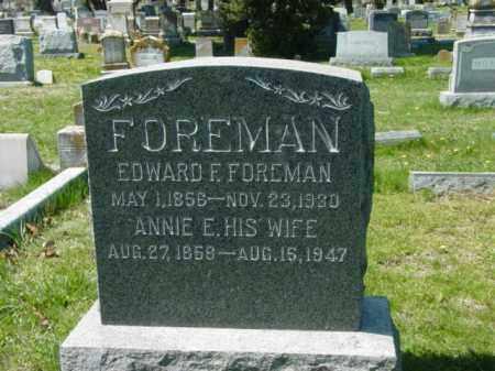 FOREMAN, EDWARD F. - Talbot County, Maryland | EDWARD F. FOREMAN - Maryland Gravestone Photos