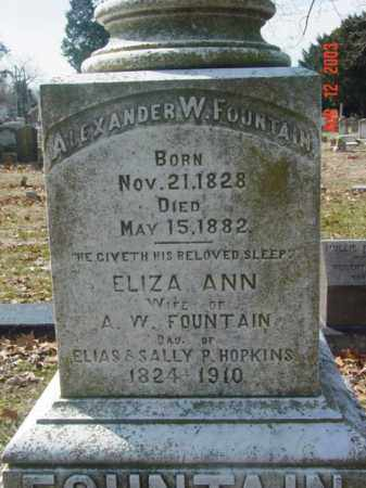 FOUNTAIN, ALEXANDER W. - Talbot County, Maryland | ALEXANDER W. FOUNTAIN - Maryland Gravestone Photos